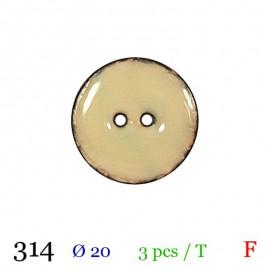 Tube 3 boutons beige Ø 20mm