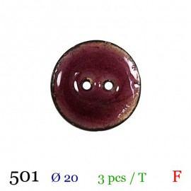 Tube 3 boutons prune Ø 20mm