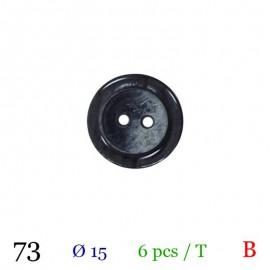 Tube 6 boutons noir Ø 15mm