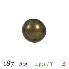 Tube 4 boutons boule en métal Ø 15mm