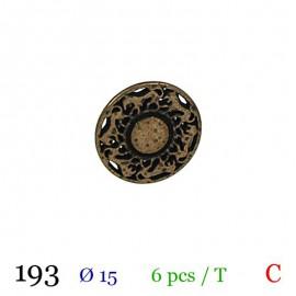 Tube 6 boutons en métal Ø 15mm