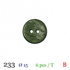 Tube 6 boutons vert Ø 15mm