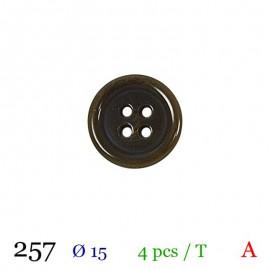 Tube 4 boutons vert foncé Ø 15mm
