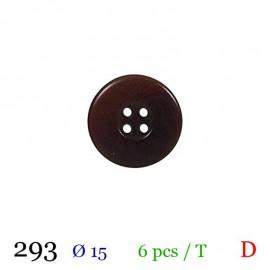 Tube 6 boutons marron Ø 15mm