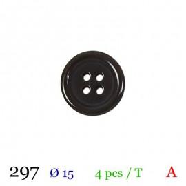 Tube 4 boutons marron Ø 15mm