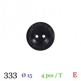Tube 4 boutons façon bois usé Ø 15mm