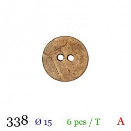 Tube 6 boutons façon bois usé Ø 15mm