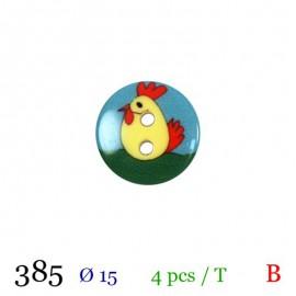 Tube 4 boutons poule Ø 15mm
