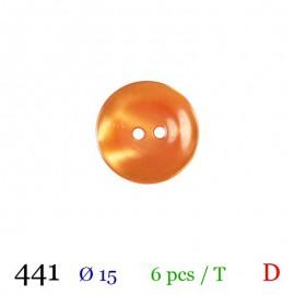 Tube 6 boutons orange Ø 15mm