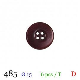 Tube 6 boutons prune Ø 15mm