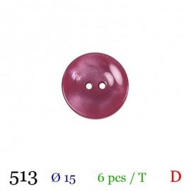 Tube 6 boutons rose Ø 15mm