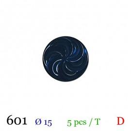Tube 5 boutons bleu marine Ø 15mm
