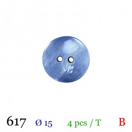 Tube 4 boutons bleu Ø 15mm