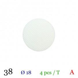 Tube 4 boutons blanc Ø 18mm