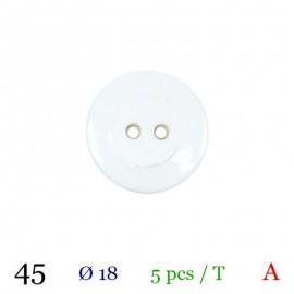 Tube 5 boutons blanc Ø 18mm