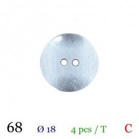 Tube 4 boutons argenté Ø 18mm
