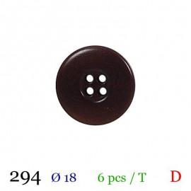 Tube 6 boutons marron foncé Ø 18mm