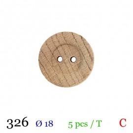 Tube 5 boutons bois Ø 18mm
