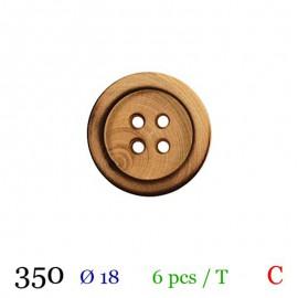 Tube 6 boutons bois Ø 18mm