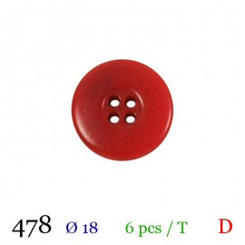 Tube 6 boutons rouge Ø 18mm