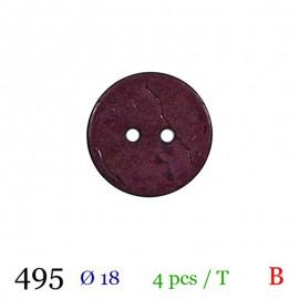 Tube 4 boutons bordeaux Ø 18mm