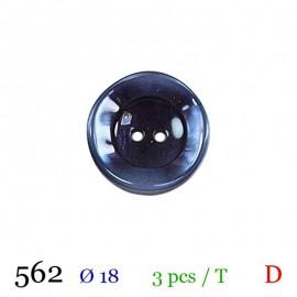 Tube 3 boutons bleu marine Ø 18mm