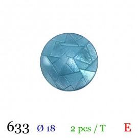 Tube 2 boutons bleu Ø 18mm