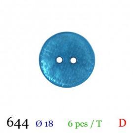 Tube 6 boutons bleu Ø 18mm