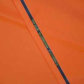 Tissu Super 110 Vitale Barberis uni Orange x10cm