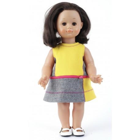 Robe 3 en 1 pour fillette et robe chasuble pour poupée