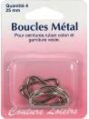 Boucles métal forme D 25 mm X4