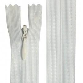 Fermeture invisible blanc de 22 cm à 60 cm