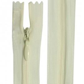 Fermeture invisible écru de 22 cm à 60 cm
