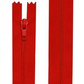 Fermeture nylon non-séparable de 10 à 60 cm rouge