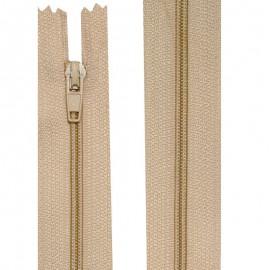 Fermeture nylon non-séparable de 10 à 60 cm beige
