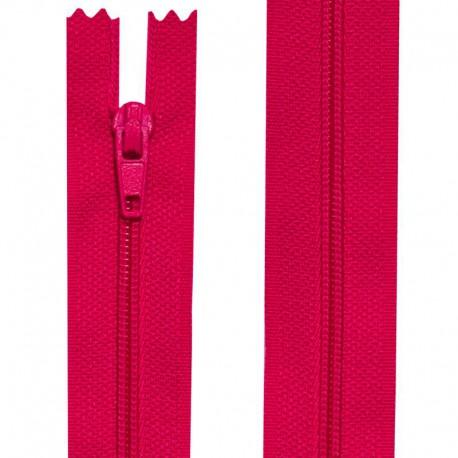 Fermeture nylon non-séparable de 10 à 60 cm rose