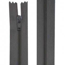 Fermeture nylon non-séparable de 10 à 60 cm gris clair