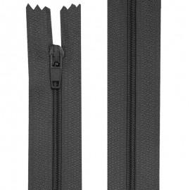 Fermeture nylon non-séparable de 10 à 60 cm gris foncé