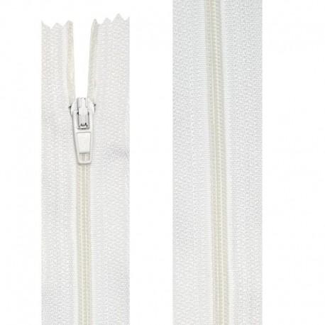 Fermeture nylon non-séparable de 10 à 60 cm blanc