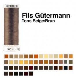 Fil pour tout coudre 100m - Coloris Beige/Brun - Gütermann