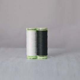 Fil à coudre Super résistant 30m - Noir-Blanc - Gütermann