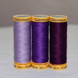 Fil de coton naturel 100m -Violet- Gütermann
