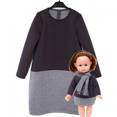 Robe pour fillette et poupée