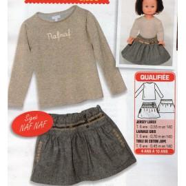 Jupe et pull (Patron enfant et poupée)