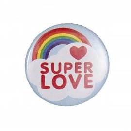 Badge Super love arc en ciel