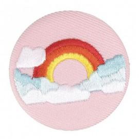 Badge tissu arc en ciel brodé