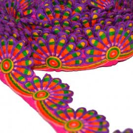 Ruban rosace violet 45 mm