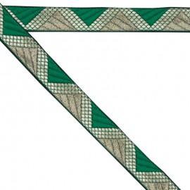 Ruban géométrique vert 20 mm