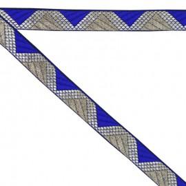 Ruban géométrique bleu 20 mm