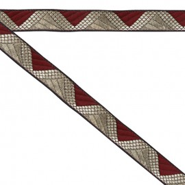 Ruban géométrique bordeaux 20 mm